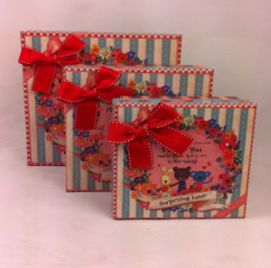 Lovely Carton Design Printed Kraft Paper Gift Box pictures & photos