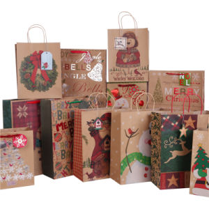 Paper Handle Eco Paper Bags for Christmas Gifts pictures & photos