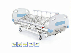 Manual Four Crank Rolling Medical Bed pictures & photos