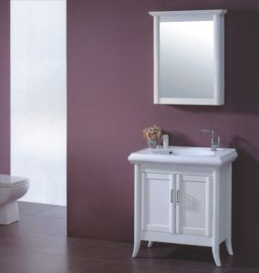 White Wooden Bathroom Vanity (B-329) pictures & photos