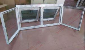 PVC Top Hung Window with Mosquito Net (BHP-WA13) pictures & photos