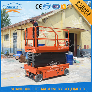300kg 12m Self-Propelled Mobile Hydraulic Scissor Lift with Four Wheels pictures & photos