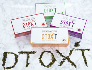 Customized Brand Dtox′t 14 Day Weight Loss Detox Tea Series with Assorted Flaovrs pictures & photos