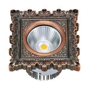 Hotel COB 10W LED Spotlight with Brass Panel pictures & photos