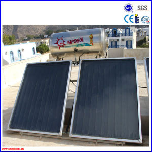 High Efficiency Compact Flat Plate Solar Heater pictures & photos