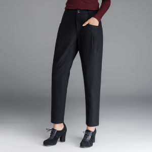 New Fashion Spring Chiffon Black Pencil Pants pictures & photos