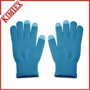 Fashion Winter Acrylic Warmer Solid Blank Knitted Glove pictures & photos