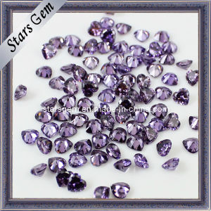 Hot Sale Purple and Heart Cutting Cubic Zirconia pictures & photos