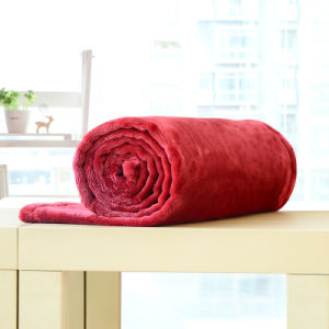 Small Solid Polyester Blanket Flannel Blanket (SR-B170316-34) pictures & photos