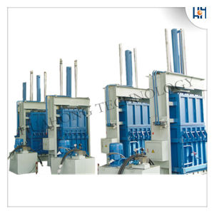 Hydraulic Yarn Waste Cotton Vertical Baler Machine pictures & photos