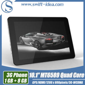 10.1inch 3G Calling Tablet Mtk6589 Quad Core IPS HD 1280*800 1g+8g Built-in 3G Android Tablet PC (PMI1035T)