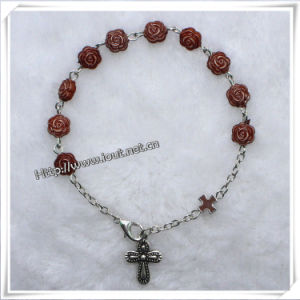 8*5mm Resin Rose Beads Rosary Bracelets (IO-CB121) pictures & photos