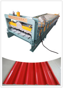 Trapezoidal and Corrugated Tile Making Ibr Roofing Sheet Roof Roll Forming Machine pictures & photos