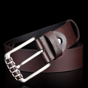 Men′s Cool Pin Buckle Genuine Leather Belt pictures & photos