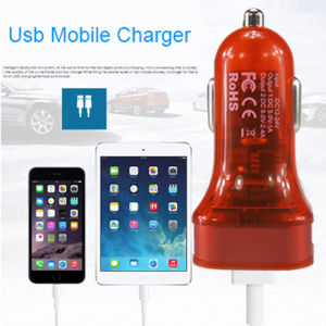 Car Electronics Portable Dual USB Car Charger for USB Car Charger 2 Port pictures & photos