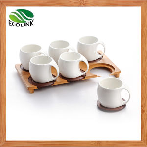 Bamboo Ceramic Coffee Cup Set 6PCS pictures & photos