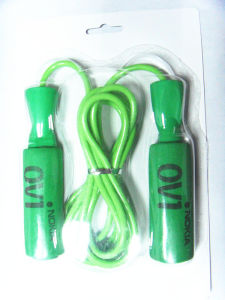 High Logo Print Foam Handle Jump Rope pictures & photos