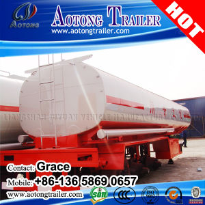 3 Axle Carbon Steel Fuel Oil Transport Tank Truck Trailer pictures & photos