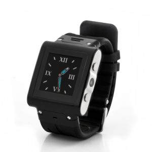 Waterproof Mobile Phone Watch - Stainless Steel, Quad Band