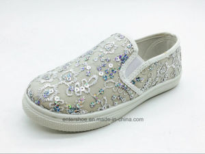 Gold Color Children Leisure Shoes with PVC Outsole (ET-AL160250K) pictures & photos