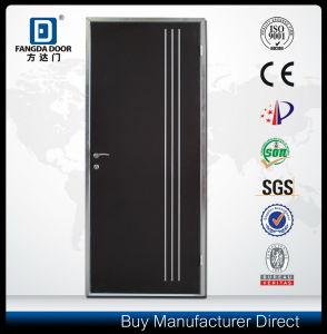 Israeli Interior Steel Door with Decorative Aluminum Strips pictures & photos