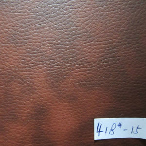 0.9mm Imitation PVC Leather (Two tone) pictures & photos