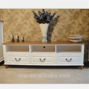 Wh-4104 Modern Corner Solid Wood TV Cabinet with Drawers pictures & photos