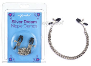 Funny Sex Toy - Adjustable Silver Dream Nipple Clamps