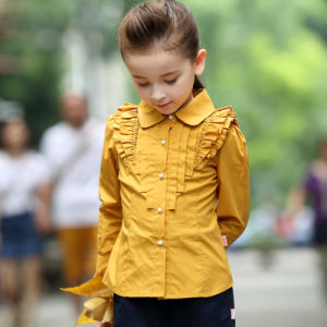 Custom Different Colors Lacework Child Girls Shirt pictures & photos