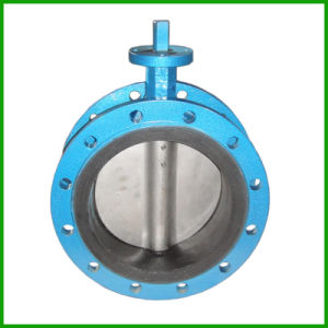 Bare Stem Double Flanged Butterfly Valve-Rubber Seal Butterfly Valve pictures & photos