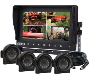 Quad Waterproof Monitor System with Waterproof Car Camera pictures & photos