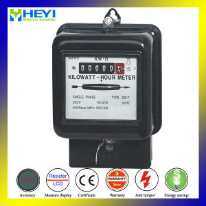 30A 220V Low Price Single Phase Two Wire Old Type Energy Meter pictures & photos