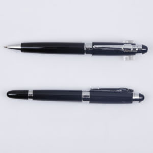 Corporate Gift Heavy Ball Pen and Roller Pen Set with Logo