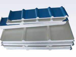 Easy Installation Insulated EPS Sandwich Metal Roof Tile/Wall Panels pictures & photos