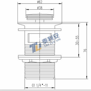 Sanitary Fitting Brass Pop up Drainer (T1008) pictures & photos