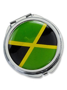 Jamaica Flag Epoxy Round Pocket Mirror (MX108L) pictures & photos