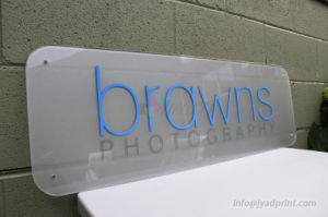 Digital Print Die Cut Company Logo On Frosted Acrylic Sign pictures & photos