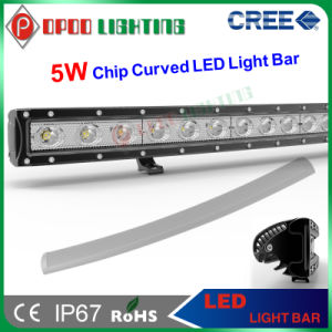 IP67 Curved Single Row 5W CREE LED Light Bar