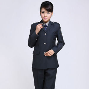 Long Sleeve Hotel Apartment Security Guard Jacket&Pant Partol Uniform with Hat pictures & photos