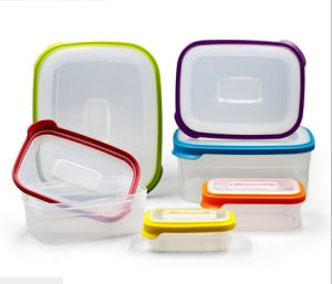 6 in 1 Food Container Environmently Food Grade Plastic Fresh-Keeping Box Fridge Multi Capacity Save Space for Kitchen/PP storage pictures & photos