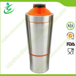 700 Ml Stainless Steel Protein Shaker Bottle with Storage (SS-A2) pictures & photos