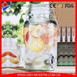 Wholesale Glass Beverage Honey Juice Dispenser with Tap pictures & photos
