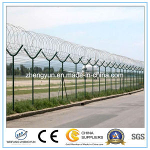 Y Post PVC Coated Airport Fence with Razor Barbed Wire pictures & photos