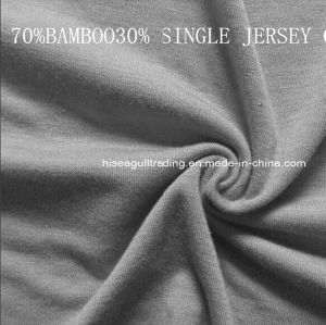 70%Bamboo 30%Cotton Single Jersey Fabrics. pictures & photos
