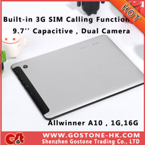 Mq777 Built-in 3G SIM Calling Tablet PC 9.7′′ Capacitive Android 4.0 Allwinner A10 1.2GHz Memory 1g 16g Dual Camera Bluetooth WiFi