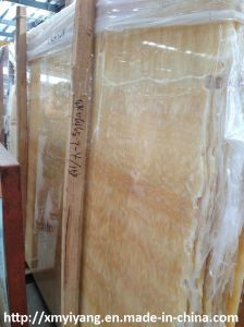Honey Yellow Onyx Slab for Flooring Tile or Decorative Wall pictures & photos