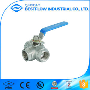 Stainless Steel 316 Three Way Ball Valve pictures & photos