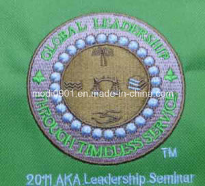 Beautiful Embroidery Logo Garment Accessory pictures & photos