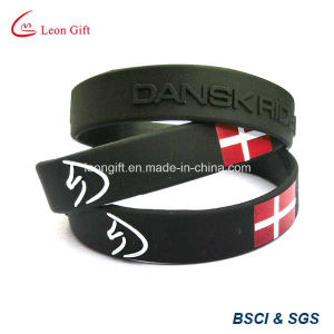 Custom Inject Color Logo Silicon Bracelet for Gift pictures & photos