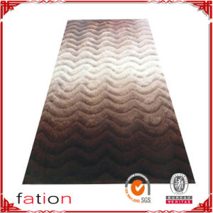 High Quality Gradient Colors Area Rugs Polyester Shaggy Carpets pictures & photos